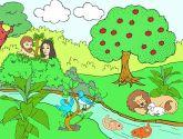 Children's Sunday School Activity - The Garden of Eden -Adam and Eve activity for preschoolers