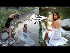 River PhotoShoot Behind The Scenes, How I Take Natural Light Portraits Senior Pictures Water, Creative Senior Pictures, Photography Senior Pictures, Water Pictures, Girl Senior Pictures, Senior Picture Outfits, Portrait Photography Poses, Photography Poses Women, Water Photography