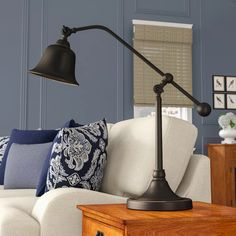 Get inspired by Rustic Living Room Design photo by Birch Lane. Birch Lane lets you find the designer products in the photo and get ideas from thousands of other Rustic Living Room Design photos. Industrial Style Bedroom, Lamp Cord, Rustic Office, Tiffany Lamps, Table Lamp Sets, Led, Modern Rustic Interiors, Floor Lamp, Living Room Designs