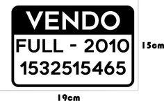 Calco Ploteo Vehicular Vendo Auto Vinilo - $ 80,00