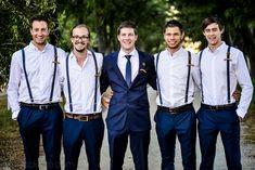 Navy suits & braces