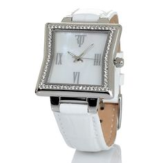 Timepieces by Randy Jackson Cinched Square Case Watch