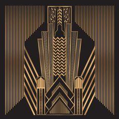 Great Gatsby Photography Backdrop Customized Golden Stripes | Etsy