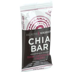 Health Warrior Chia Bar - Dark Chocolate Cherry - .88 oz Bars - Case of 15 - All natural, delicious 100 calorie Health Warrior Chia Bars (15-Count package) . Certified vegan, soy free, gluten free, and low glycemic. Great source of fiber, omega-3 and plant-based protein, and packed with magnesium and calcium. Chia seeds are the number one ingredient. Organic: NA Gluten Free: Gluten Free Dairy Free: Yes Yeast Free: No Wheat Free: No Vegan: Yes Kosher: No GMO Free: Yes Summer Melt Risk? No…