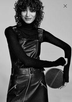 ZARA STUDIO - Robe cuir noir