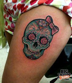 Sugar skull with bow