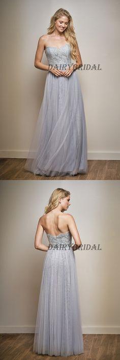 Sweet Heart Bridesmaid Dress, Tulle Bridesmaid Dress, Lace Bridesmaid Dress, Floor-Length Bridesmaid Dress, Cheap Bridesmaid Dress, Backless Bridesmaid Dress, DA951 #dairybridal