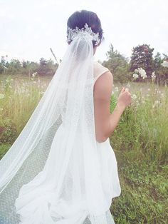 Lovely Swiss Dotted Wedding veil
