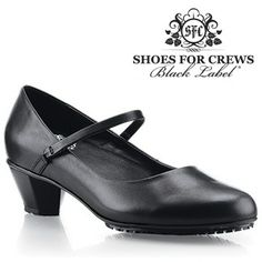 """Shoes For Crews Sienna. Start your day in total comfort with a shoe that's all about you. Timeless styling and premium full-grain leather make this design the perfect addition to your work shoe collection. The Sienna features our patented SFC Mighty Grip™ outsole and a removable cushioned insole to keep you comfortable. Rubber heel measures 1¾"""" for additional height."""