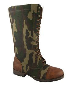 Take a look at this Tan Camo Margie Boot by Link on #zulily today!