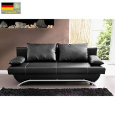 Rozkládací pohovka Nancy, ekokůže černá Outdoor Sofa, Outdoor Furniture, Outdoor Decor, Couch, Home Decor, Settee, Decoration Home, Sofa, Room Decor