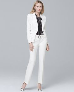 c73b4da346fe Women s Curvy Belted Ankle Trousers by White House Black Market White  Suits