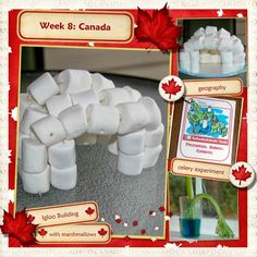 Middle Beginnings:: Week Canada Canada For Kids, Canada 150, Igloo Craft, Preschool Crafts, Crafts For Kids, Igloo Building, Canada Party, Canada Day Crafts, Summer Daycare