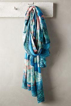Peacock Reflection Scarf #anthropologie