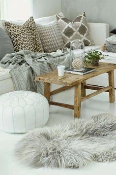 Cocooning et réconfort avec ces matières agréables et chaleureuses.