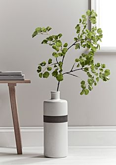 Perfectly vibrant and fresh, our faux leaf frond will bring a botanical touch to your home. Display in a floor vase for added drama. White Texture, Green Leaves, Pottery, Flooring, Display, Living Room, Furniture, Home Decor, Vases