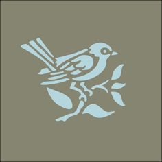 Another bird stencil for my chairs