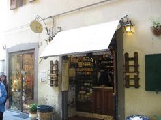 I Fratellini in Florence - my favorite sandwich shop ever.  There is no more to it than you are able to see in the picture. Eat in in the street!!