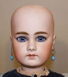 Античный-Симон-амп-Halbig-Ш-15-939-Биск-26-дюймов-с закрытым ртом-французски-ребенок-Кукла