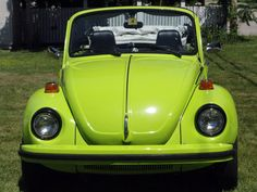 Julie Irish, of Conway, New Hampshire, U.S.A. Her 1975 VW Super Beetle.