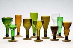 Decore Criativo: Artesanato Sustentável - Garrafas de Vidro