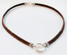 Horsehair necklace by Inge