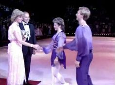 1985-07-23 Diana meets Ice Stars Jayne Torvill and Christopher Dean at Wembley Arena in London