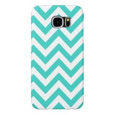 Turquoise And White Chevron Samsung Galaxy S6 Case - trendy gifts cool gift ideas customize