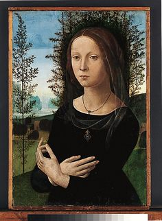 Lorenzo di Credit: Portrait of a Young Woman, c.1490.