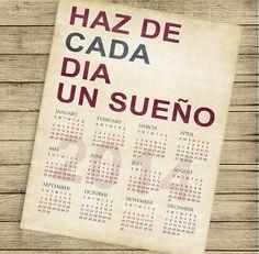 INSTANT DOWNLOAD  Printable 2014 calendar  11X14 by ByYolanda, €3.00