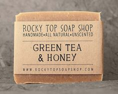 Green Tea & Honey Soap | All Natural | By RockyTopSoapShop