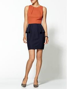Peplum Dress  by Tinley Road  Rated 4 stars  Based on 13 ratings  #375857  PM8764  Color: Rust/navy  $69.00