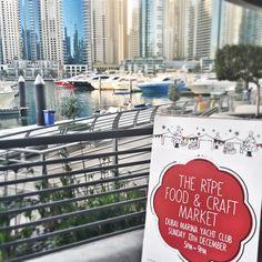 The Ripe Food and Craft Market at The Dubai Marina Yacht Club #ripemarket #popupmarket #gifts #community #shopping #festive #organic #local #farmersmarket #food #art #design #fashion #jewellry #craft #artisan #december #christmas #dubaimarkets #mydubai #market #bazaar #souq #dubaisouq