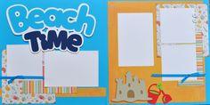 Beach Time - 12x12 Scrapbook Page Kit