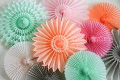 Paper fan decorations .. wedding backdrop, photo booth prop, children's party decor