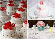 mini wedding cake for each guest table