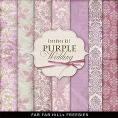 FREE Freebies Kit of Backgrounds - Purple Wedding By Far Far Hill