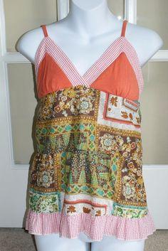 Papaya lightweight boho cotton tank top womens size S #Papaya #TankCami #Casual