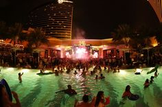Nightswim at XS Las Vegas! Sometimes you just need to jump in the pool even though it's midnight or later.