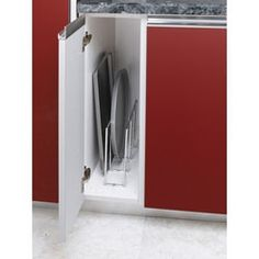 Buy the Rev-A-Shelf Chrome Direct. Shop for the Rev-A-Shelf Chrome 596 Series U-Shaped Tray Divider for Vertical Tray Storage and save. Kitchen Cabinet Organization, Kitchen Storage, Storage Spaces, Cabinet Organizers, Cabinet Ideas, Storage Organizers, Organization Ideas, Storage Ideas, Kitchen Organizers