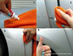 Pasta dental para eliminar rayaduras leves en el carro