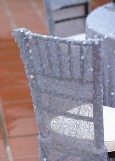 Sparkly chair covers.