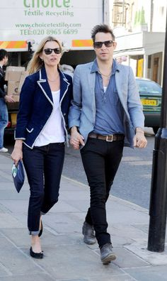 Tuesday March, 27, 2012. Super model Kate Moss and husband Jamie Hince spend the day shopping in a local bookstore in London.