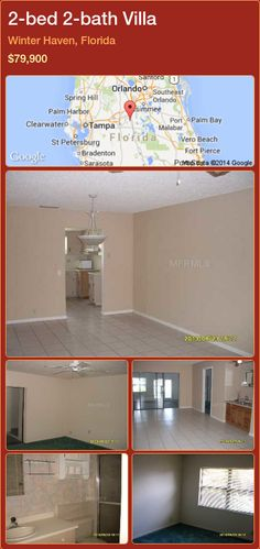 2-bed 2-bath Villa in Winter Haven, Florida ►$79,900 #PropertyForSaleFlorida http://florida-magic.com/properties/55140-villa-for-sale-in-winter-haven-florida-with-2-bedroom-2-bathroom