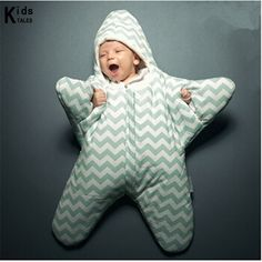 Newborn Infant Baby Bunting Bag Winter Thick Starfish Sleeping Bag 2018 neu