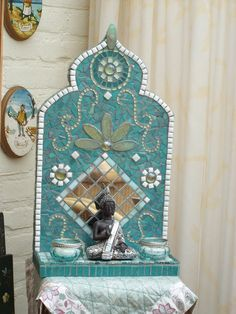 mozaiek altaartje met boedhha