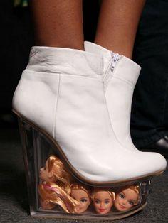 WTF Barbie shoes