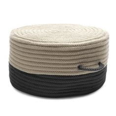 Two-Tone Pouf - Free Shipping Today - Overstock.com - 17809471 - Mobile
