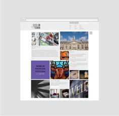 'Dublin City Business Improvement District' approached us to essentially 'Brand' Dublin city by creating a consumer facing website for the city.  We developed the identity and wireframe for this unique website equipping it with social and content building tools. We project managed the process from ideation to completion. #DublinTown #Webdesign #Design #indigoandcloth Dublin City, Wireframe, Festival Fashion, Identity, Web Design, Polaroid Film, Branding, Meet, Content