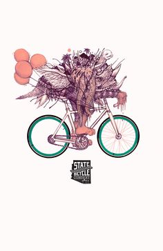State Bicycle Co. - Monster Poster by Josh Brizuela